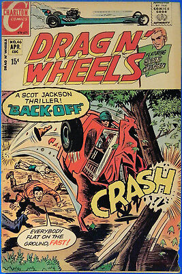 Drag N' Wheels No. 46, Charlton, April 1971, Jack Keller, Silver Age Comic