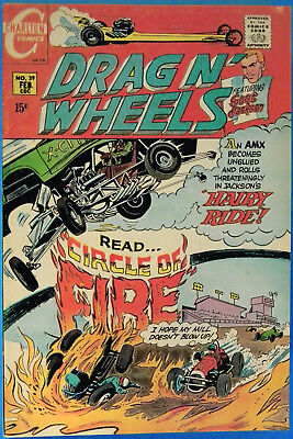Drag N' Wheels No. 39, Charlton, February 1970, Jack Keller, Silver Age Comic