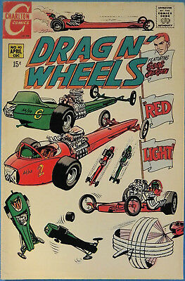 Drag N' Wheels No. 40, Charlton, April 1970, Jack Keller, Silver Age Comic