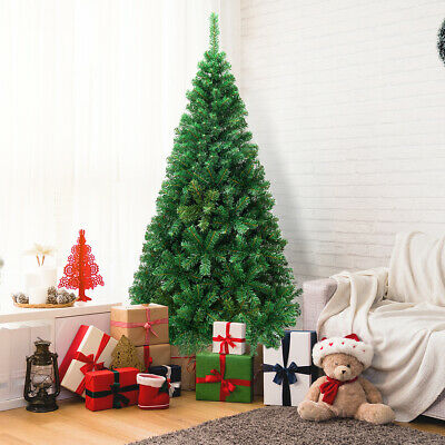 6Ft Artificial PVC Christmas Tree W/Stand Holiday Season Indoor Outdoor Green