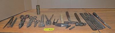 19 blacksmith tong cutter nipper hammer collectible forge vintage anvil tool B17