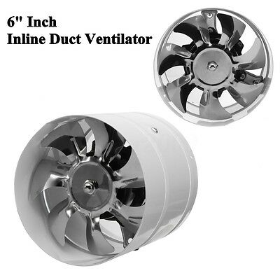 "6"" Duct Fan Booster Exhaust Ventilator Ventilation Hydroponic Vent Air"