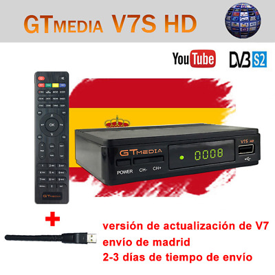 GTMEDIA DVB-S2 V7S+Wifi Satellite Receiver FTA Digital Full HD 1080p Bisskey