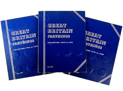1860 - 1956 Great Britain Farthings Collection - Whitman Album No. 9675 - 9677