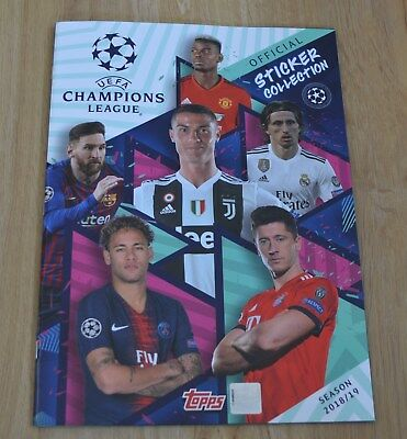 Topps Champions League Sticker 2018/2019 Collector's Album Empty 18/19