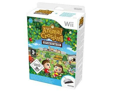 ANIMAL CROSSING LET'S GO TO THE CITY + Wii SPEAK GAME ITALIAN NEW NINTENDO
