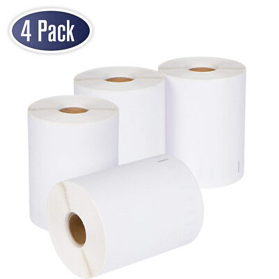 4 Rolls DYMO 4XL Direct Thermal Shipping Labels 4x6 1744907 Compatible 220/Roll