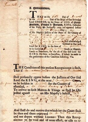 1719, Dartmouth, Mass; bond for woman convicted fornication, Sylvester Richmond