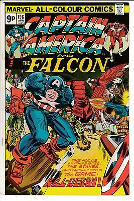 CAPTAIN AMERICA #196, PENCE COVER, KIRBY STORY & ART, Marvel Comics (1976)