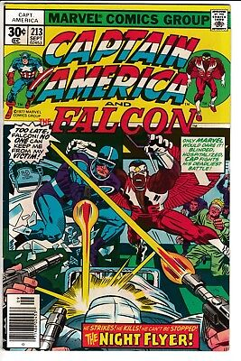 CAPTAIN AMERICA #213, KIRBY STORY & ART, Marvel Comics (1977)
