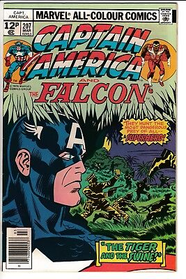CAPTAIN AMERICA #207, PENCE COVER, KIRBY STORY & ART, Marvel Comics (1977)
