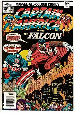 CAPTAIN AMERICA #201, PENCE COVER, KIRBY STORY & ART, Marvel Comics (1976)