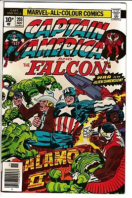 CAPTAIN AMERICA #203, PENCE COVER, KIRBY STORY & ART, Marvel Comics (1976)