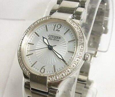 Citizen Eco Drive Women's Diamond Accented Staineless Steel Watch
