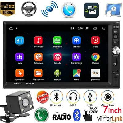 "7"" Double 2 Din Car Stereo MP5 Player Bluetooth FM Radio Remote Control+Camera"