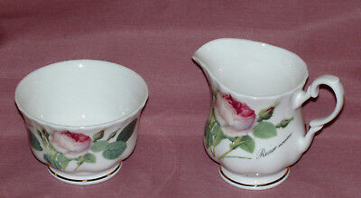Roy Kirkham Bone China~REDOUTE ROSES Sugar and Creamer~New