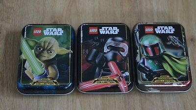 Lego® Star Wars™ Serie 1 Trading Card Game alle 3 Mini Tin Boxen Dosen leer