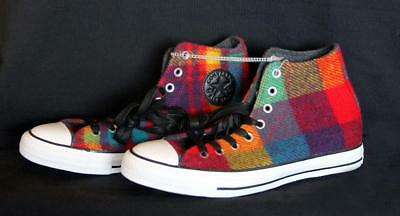 Converse WOOLRICH Wool Bright Colored Plaid Lined High Top Shoes Unisex DISC NEW