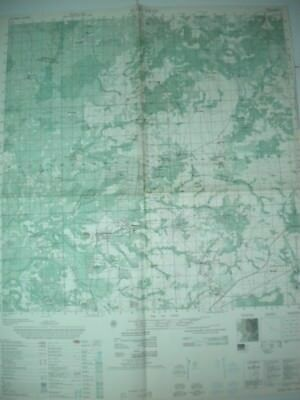 BUON TRAP Special Forces Vietnam map Mewal Plantation MACV Green Beret 6634 IV