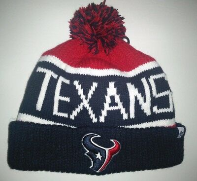 32b2462bd7e434 47' Navy & red NFL Houston Texans embroidered Calgary cuffed knit beanie ...