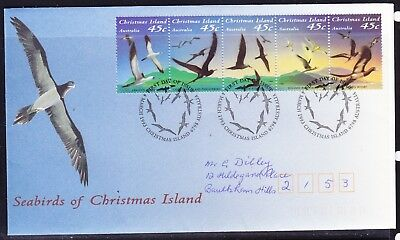 Christmas Island 1993 Seabirds  First Day Cover  APM25250 Addressed