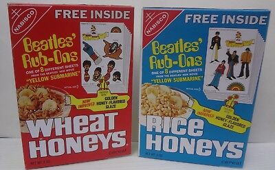 The Beatles Yellow Submarine wheat & rice honeys Cereal Box vintage 1969 Repros
