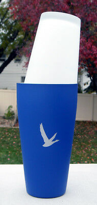 Grey Goose Vodka Stainless Steel & Glass Cocktail Shaker blue