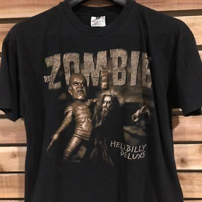 b11550bfc51a2 VTG 90s Winterland Rob Zombie Hellbilly Deluxe Concert Tour Band T Shirt XL