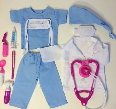 NURSE, SCRUBS, DOCTOR fits American Girl Doll, 18 Inch Doll Clothes