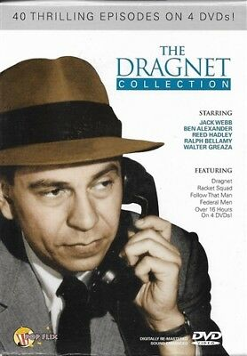 THE DRAGNET COLLECTION New Sealed 4 DVD Set 40 Episodes
