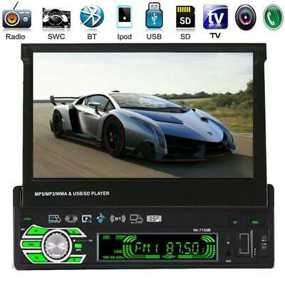 """7"""" 1DIN Touch Screen Car Stereo MP5 MP3 Player Bluetooth FM Radio AUX/TF/USB 2.0"""