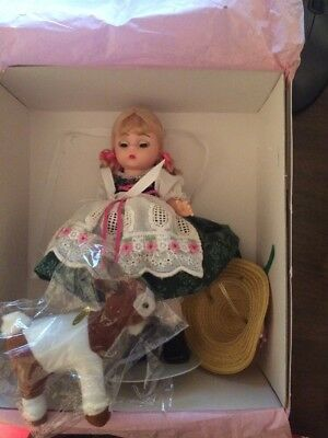 Madame Alexander Doll, Heidi With Goat 15100 Box & ALL Accessories.