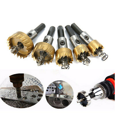 5PC Hole Saw Tooth Kit HSS Steel Drill Bit Cutter Tool Set For Metal Wood Alloy