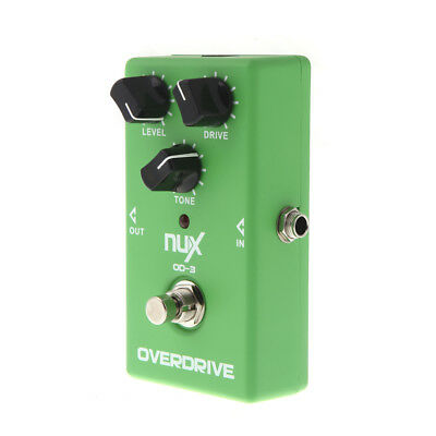 NUX OD-3 Overdrive Electric Guitar Effect Pedal Ture Bypass Green V6N1