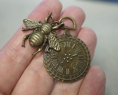 40x Antique Bronze Metal Steampunk Cogs and Gears Charm Pendant 25mm TSC119