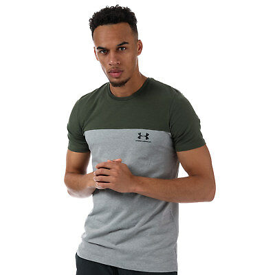 Mens Under Armour Sportstyle Colorblock T-Shirt In Green