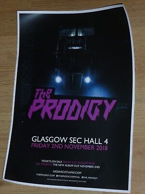 The Prodigy - Glasgow nov.2018 live music show tour concert gig poster