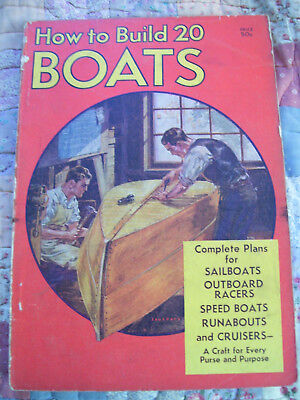 How To Build 20 Boats  From 1933