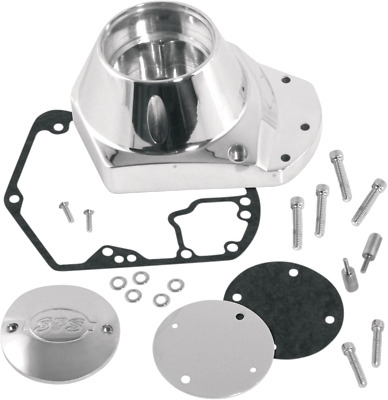 S&S Cycle Polished Cam Chest Cover Kit for 72-92 Harley Dyna Touring Softail FXE
