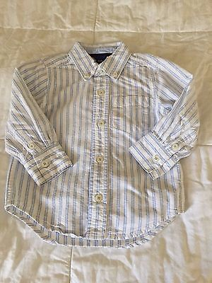 Baby Gap Toddler Boy Button Down Long Sleeve Shirt size 18-24 months old S17
