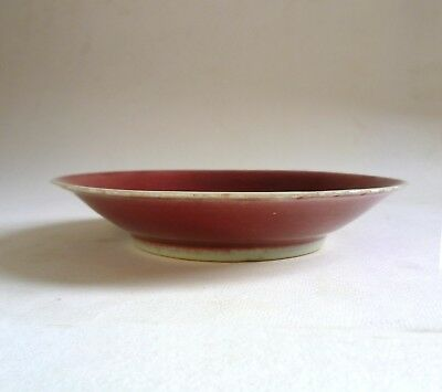 Antique Chinese Porcelain DISH. Copper Red Sang-de-Boeuf 17th/18th Century? AF