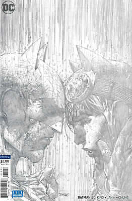 Batman #50 1:100 Jim Lee Pencils Only Sketch Variant Catwoman Wedding
