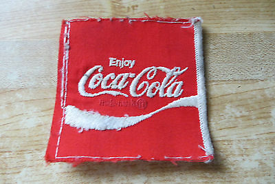 original old vtg route driver enjoy Coca-Cola hat or uniform soda pop patch