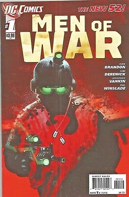 Men Of War #1  Second Print Variant   Dc The New 52  2011  Nice!!!