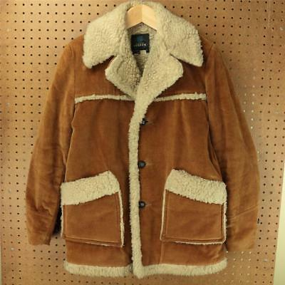 vtg 60s 70s COOPER sherpa lined corduroy coat / jacket size 18 brown usa