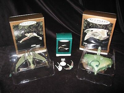 1994-95 HALLMARK SHIPS OF STAR TREK Romulan Warbird KLINGON BIRD PREY Ornaments
