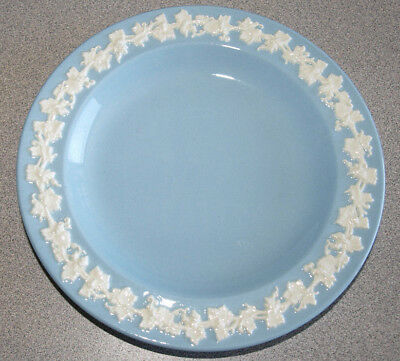 Wedgwood Queensware Embossed Smooth - Cream on Lavender Blue - Bread Plate 6""