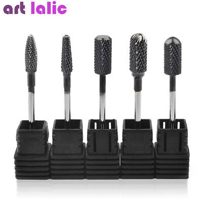 Carbide Nail Drill Bits Manicure Machine Black Titanium Nail Art Manicure Tools