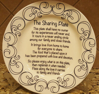 """The Sharing Plate- White 10 1/2"""" Diameter by Home Essentials"""