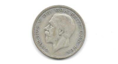 Great Britain -  George V 1931 Silver 1/2 Crown Coin - Free Shipping  (Cns 1204)